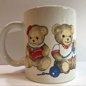 Teddy Bear Dear Santa Mug Coffee Cup Vintage